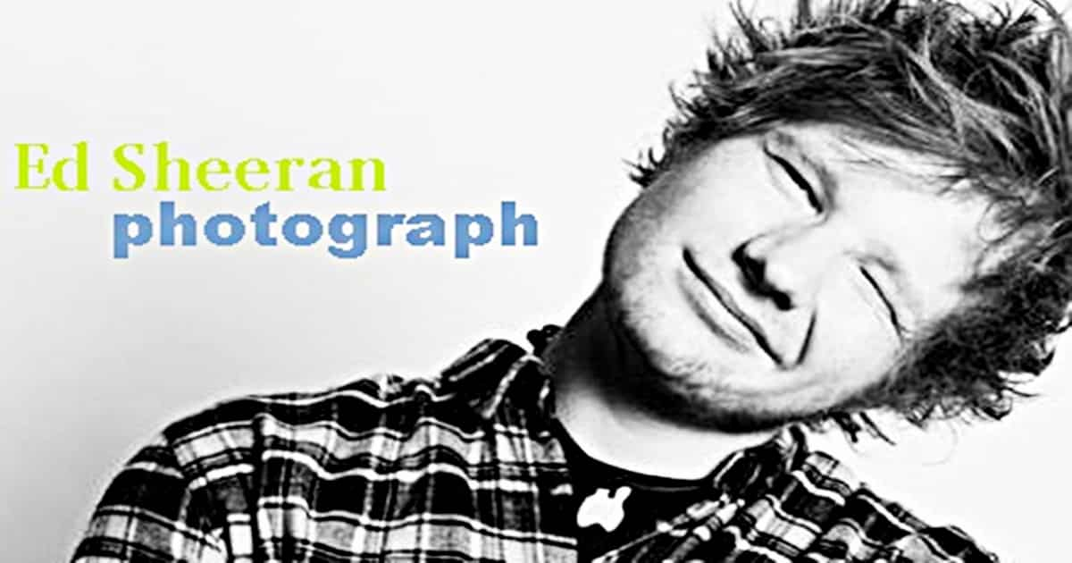 English Listening Practice with Song: Ed Sheeran - Photograph 14