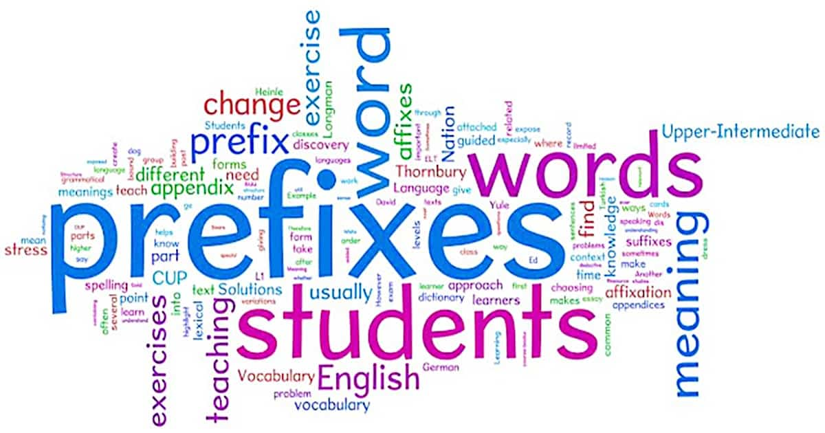 English Prefixes: List of Prefixes with Meanings and Examples 10