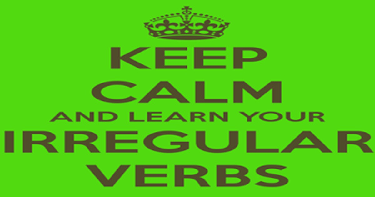 Learn the Irregular Verbs in English with Useful Examples 20