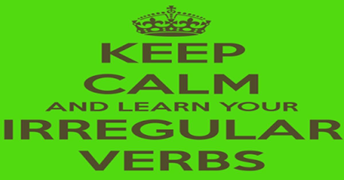 Irregular Verbs English English Grammar on Gardening Vocabulary Words