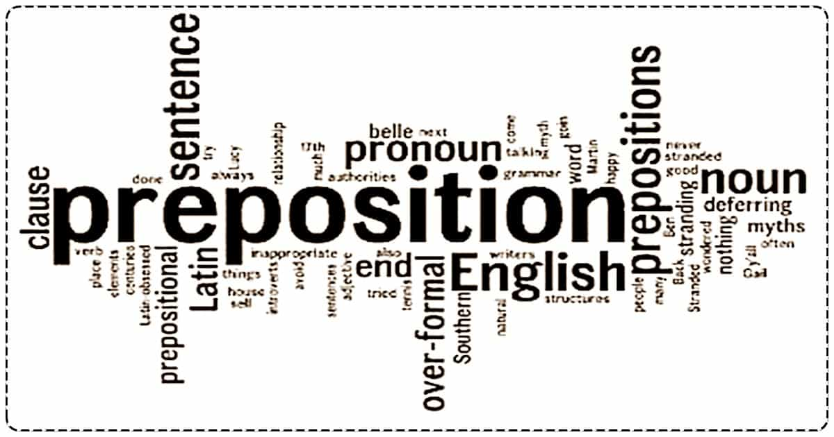 Useful List of Common Prepositions in English 6