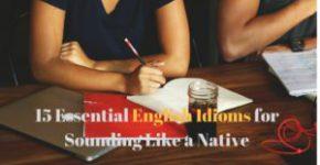 15 english idioms