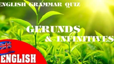 English Grammar Quiz [Gerunds and Infinitives 1]