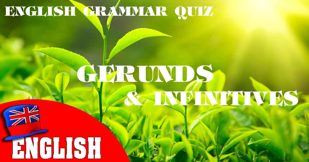 English Grammar Quiz [Gerunds and Infinitives 1] 8