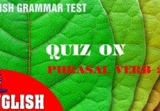 Quiz on Phrasal Verb 2