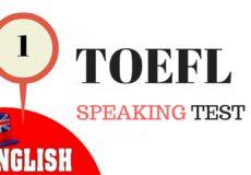 TOEFL Speaking 1
