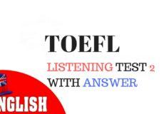 TOEFL listening 2