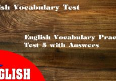English vocabulary 5