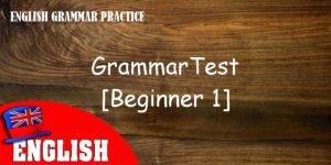 English Grammar Practice Test [Beginner 1]