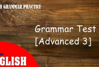 English Grammar Quiz [Advanced 3]