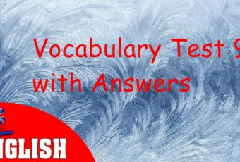 English Vocabulary Test 9 with Answers