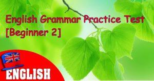English Grammar Practice Test Beginner 2