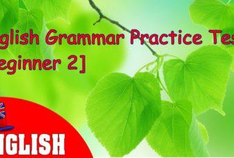 English Grammar Practice Test [Beginner 2]