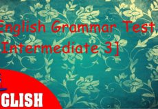 English Grammar Practice Test Intermediate 3