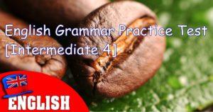 English Grammar Practice Test [Intermediate 4]