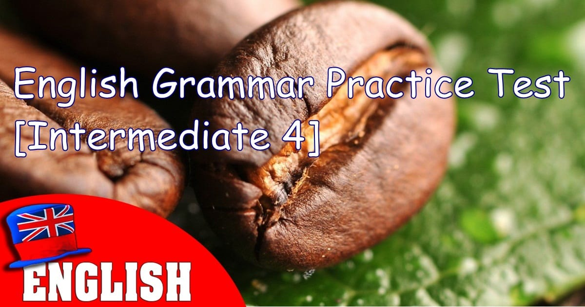 English Grammar Practice Test [Intermediate 4] 4