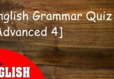 English Grammar Quiz Advanced 4