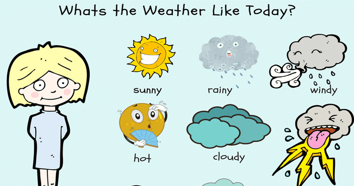 Speaking About The Weather In English on Gardening Vocabulary Words
