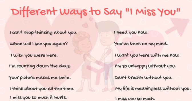 """Other Ways to Say """"I Miss You"""" in English"""