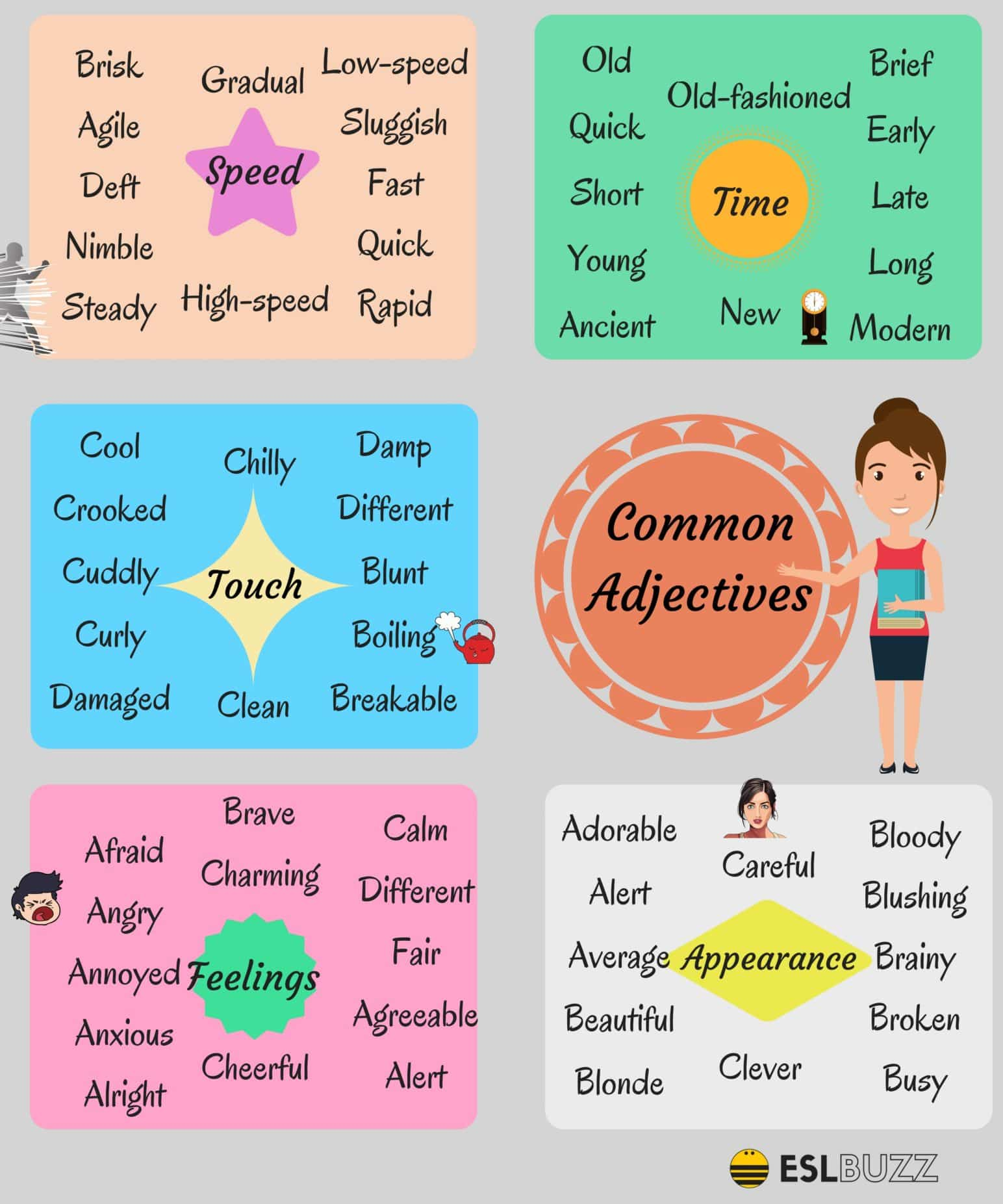List of Adjectives - Common Adjectives in English 8