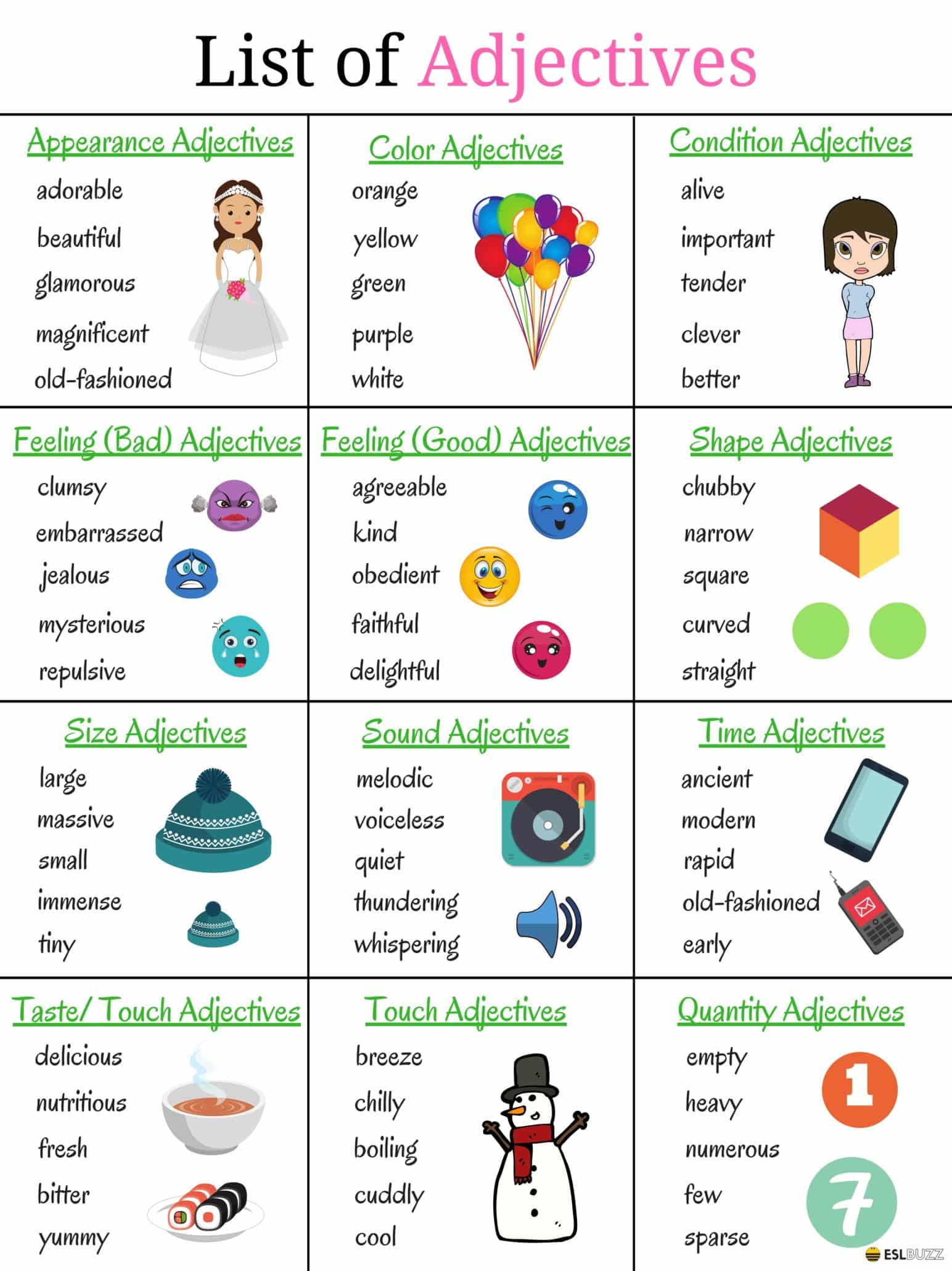List of Adjectives: Learn Popular Adjectives in English 9