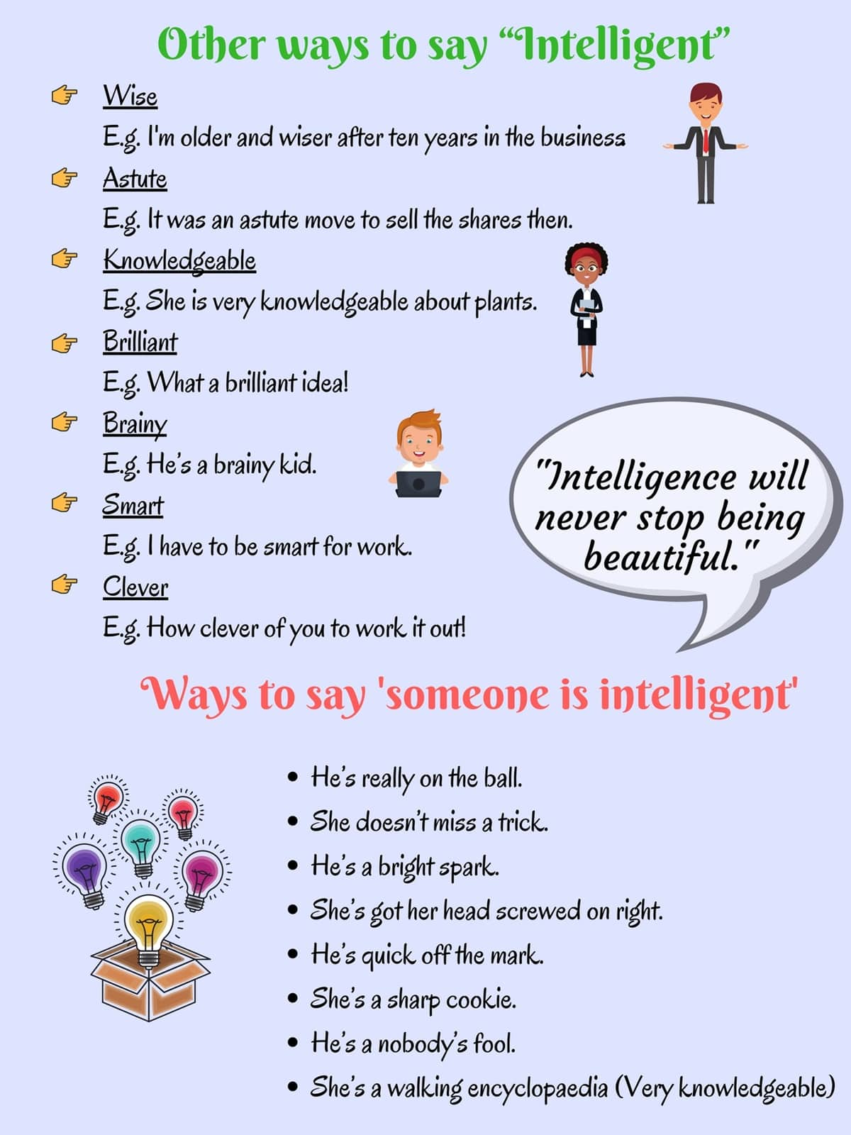 Other Ways To Say Common Things in English with Helpful Examples 5