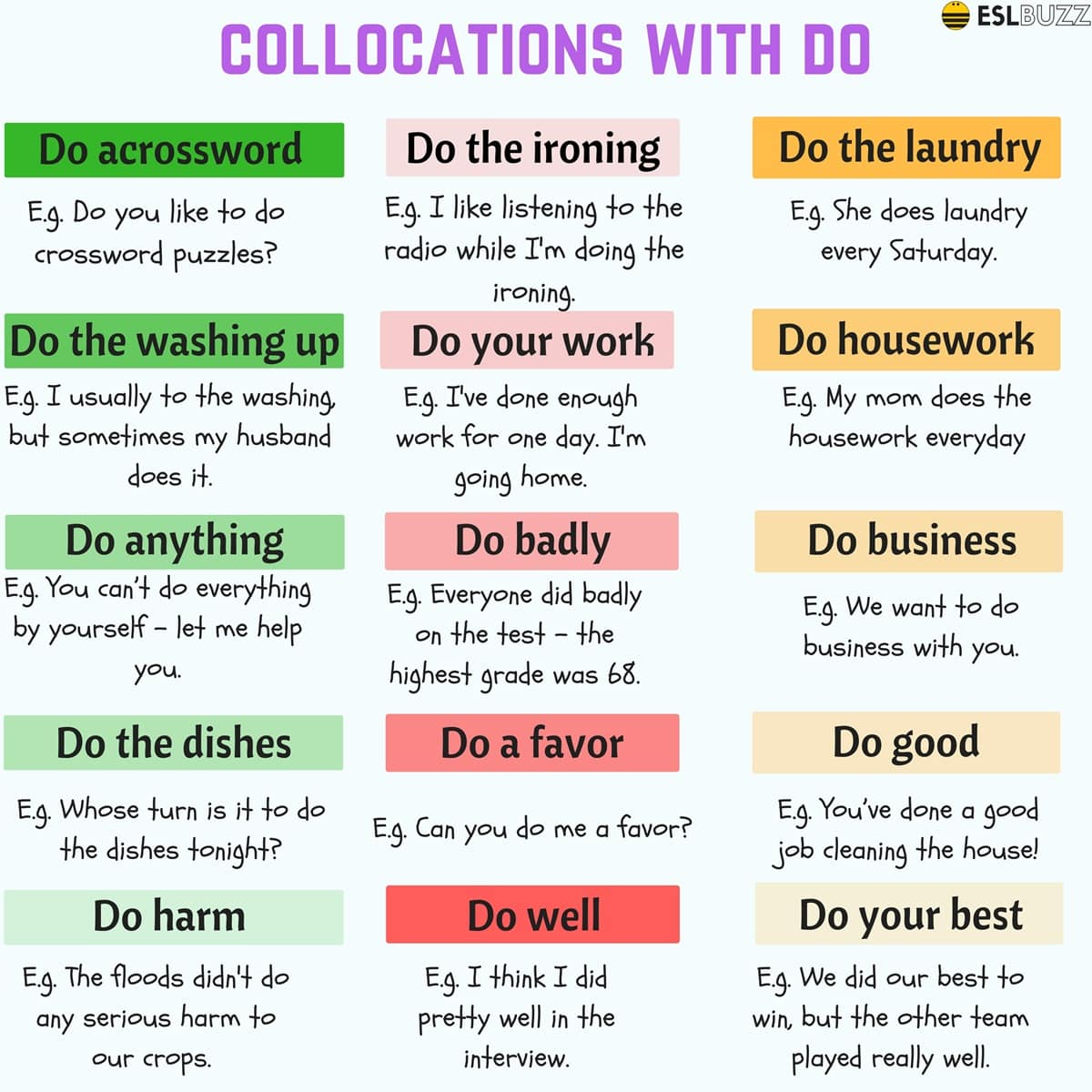 Common Verb Collocations in English 5