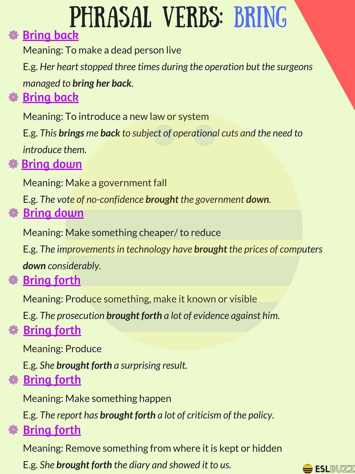 100+ of the Most Useful Phrasal Verbs in English (With Meaning & Examples) 12