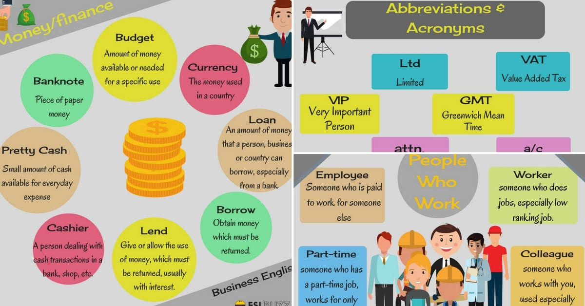 Business English Vocabulary: Words and Terms You Need to Know 9