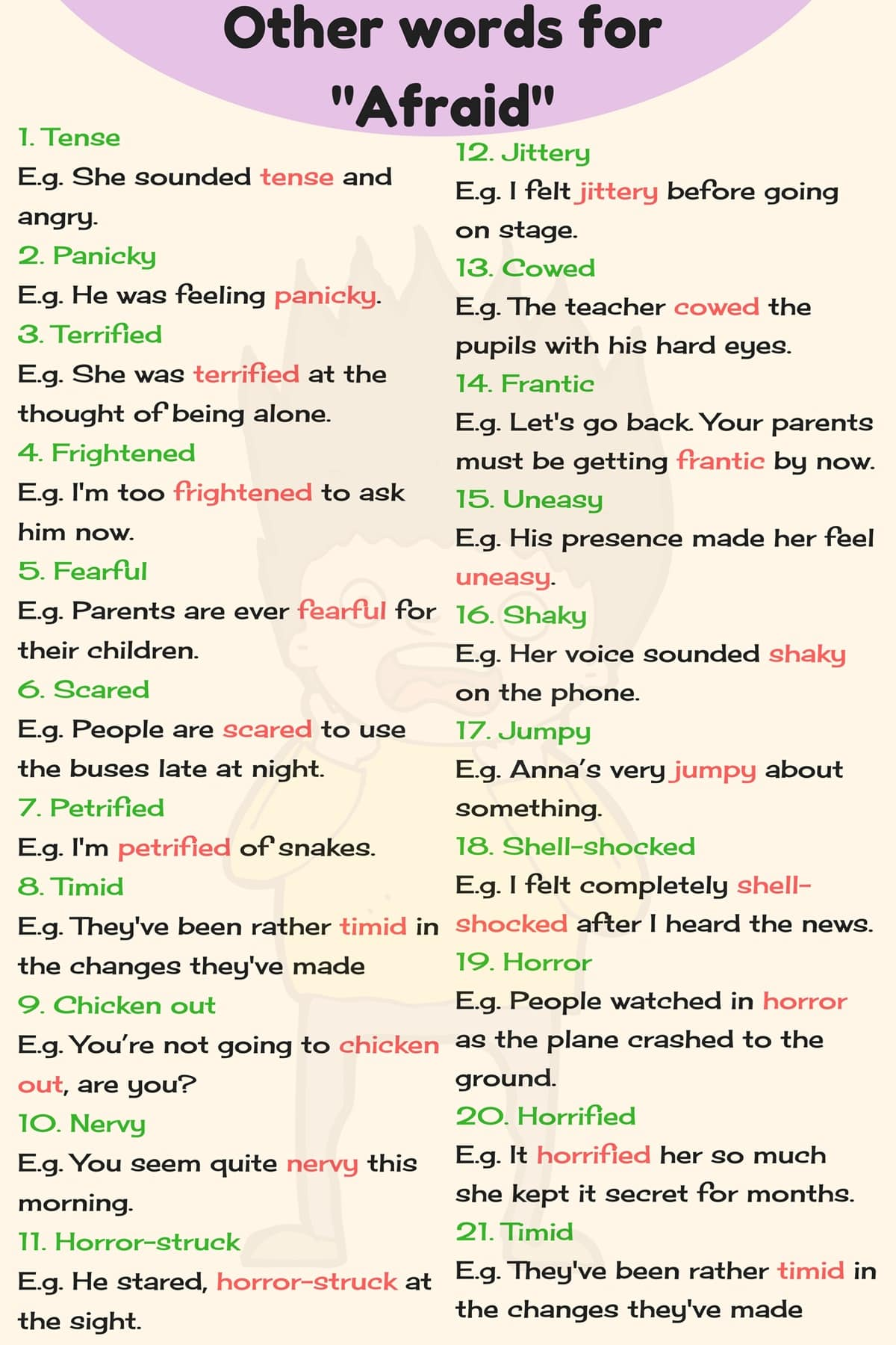 Other Ways To Say Common Things in English 4
