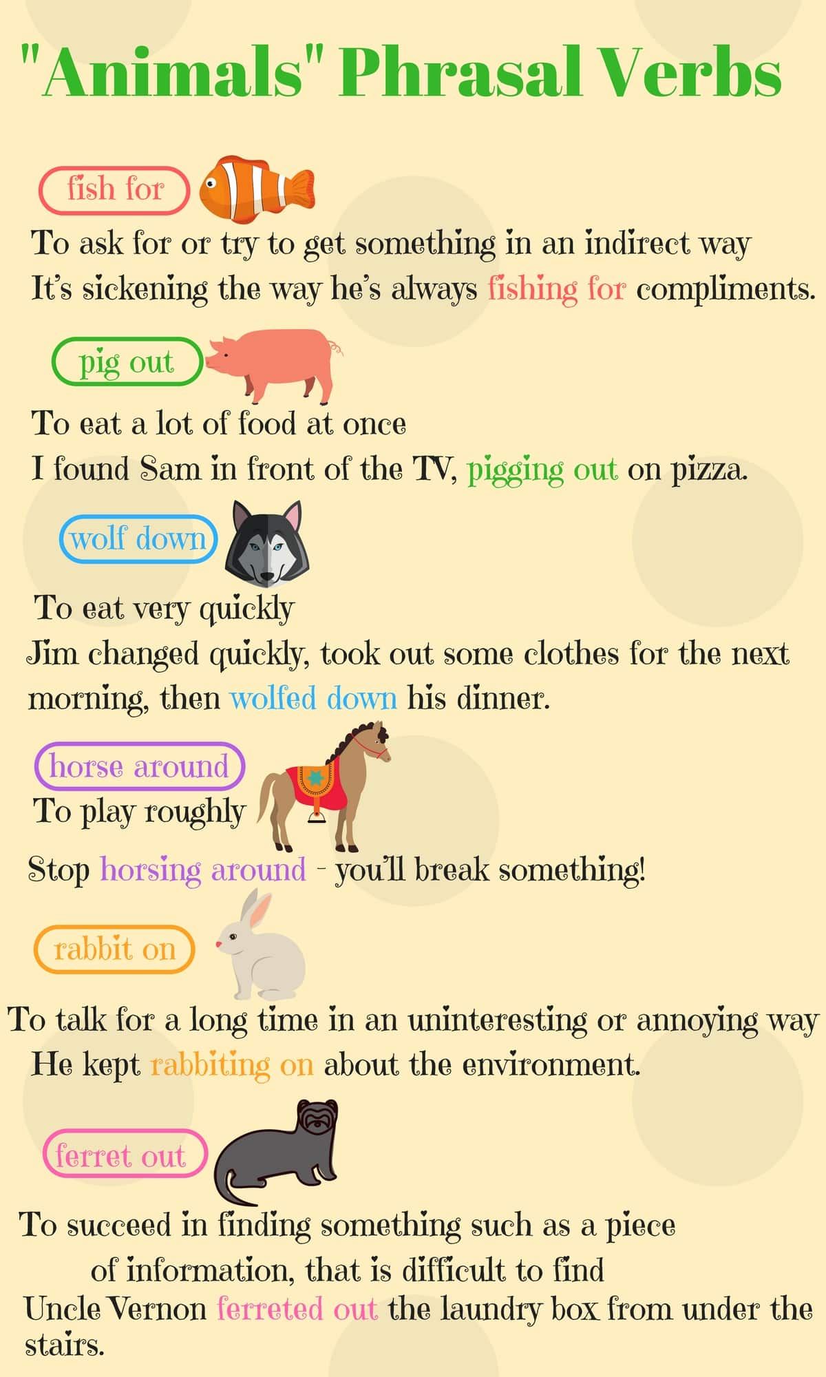 English Phrasal Verbs for Communication with Useful Examples 5