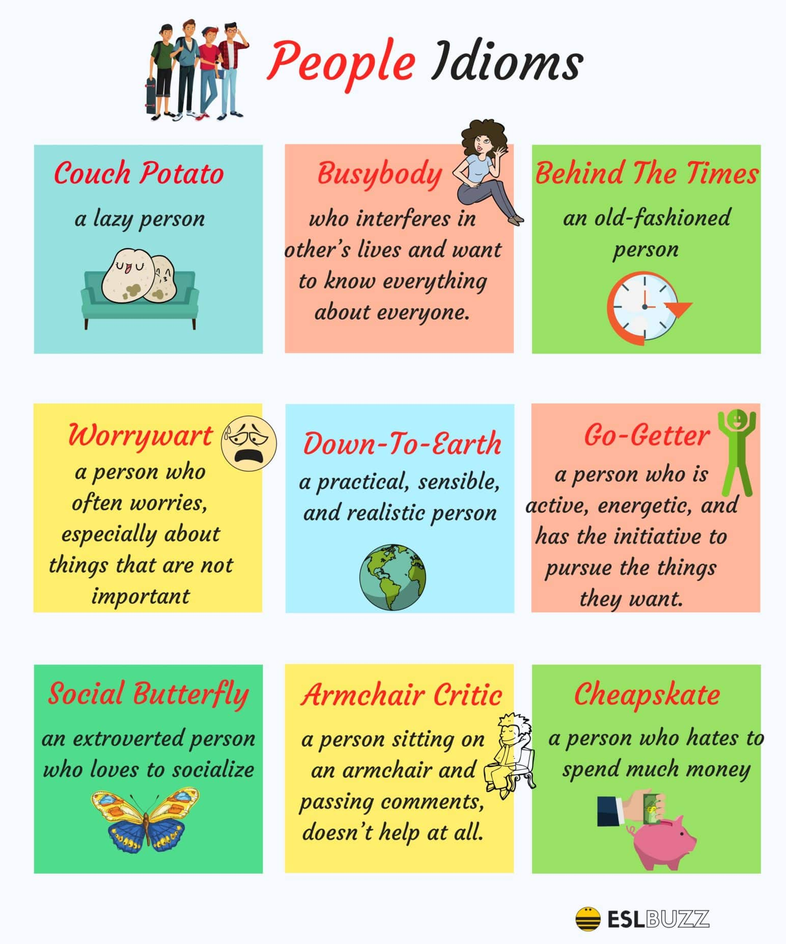 List of 120+ Popular English Idioms Arranged in Categories 3