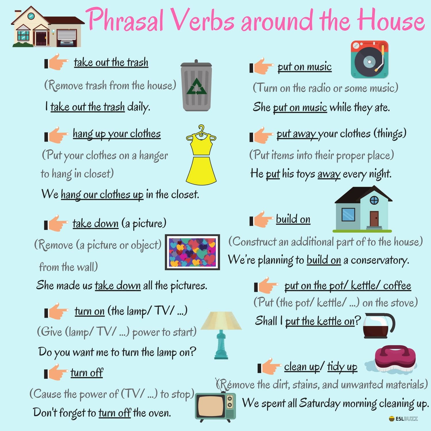 English Phrasal Verbs for Communication with Useful Examples 6