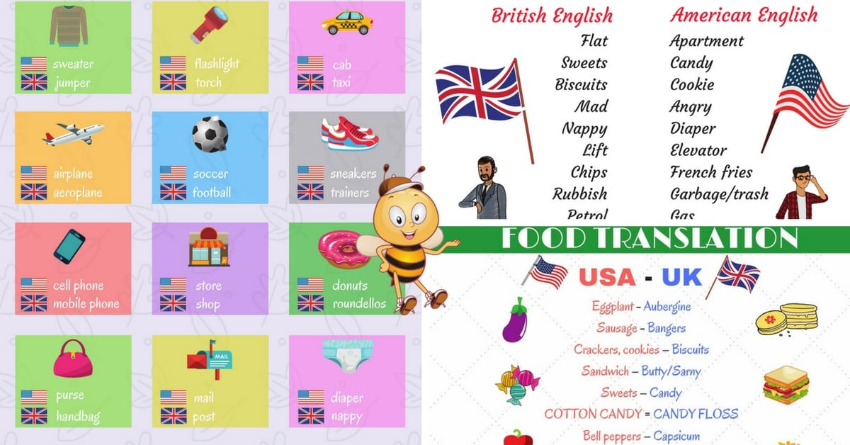 British vs American English: What are the Differences? Popular Words 7