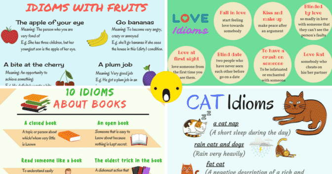 List of Common Idioms Arranged in Categories