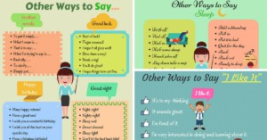 Learn 80+ Useful Expressions in English | Other Ways to Say ...