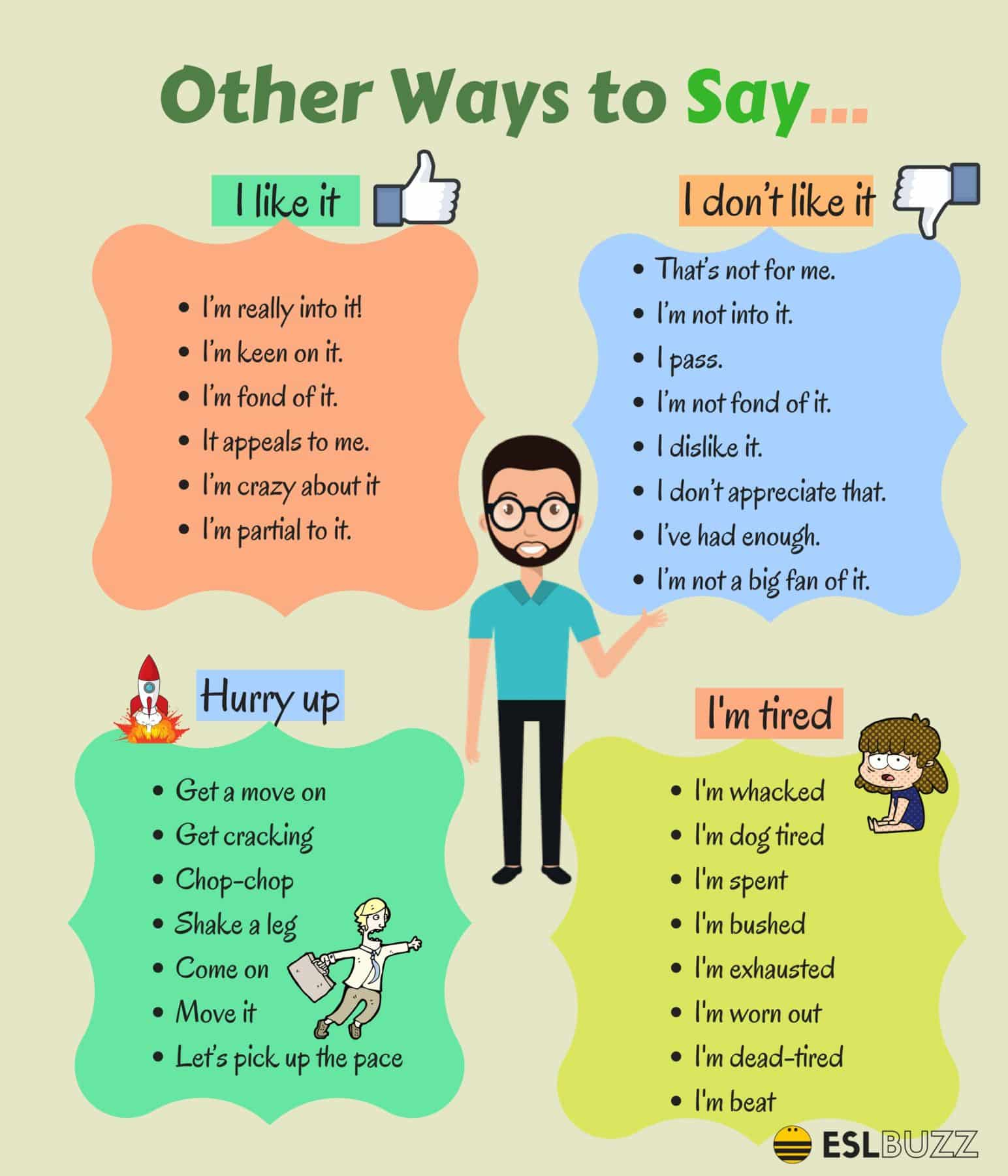 Learn 80+ Useful Expressions in English | Other Ways to Say ... 13