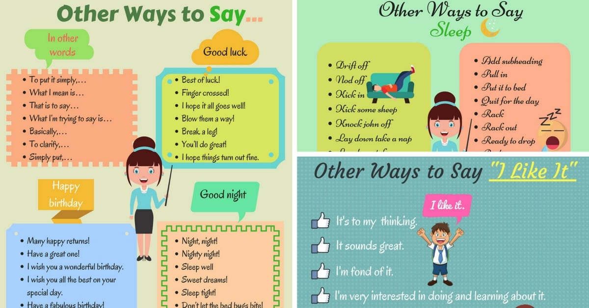 Learn 80+ Useful Expressions in English | Other Ways to Say ... 12