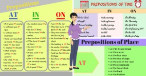 How to Use Prepositions of Time and Place AT – IN – ON