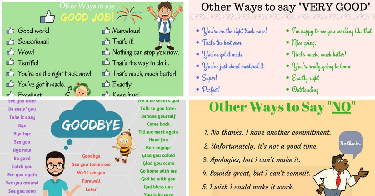 Common Phrases and What You Can Use Instead 10