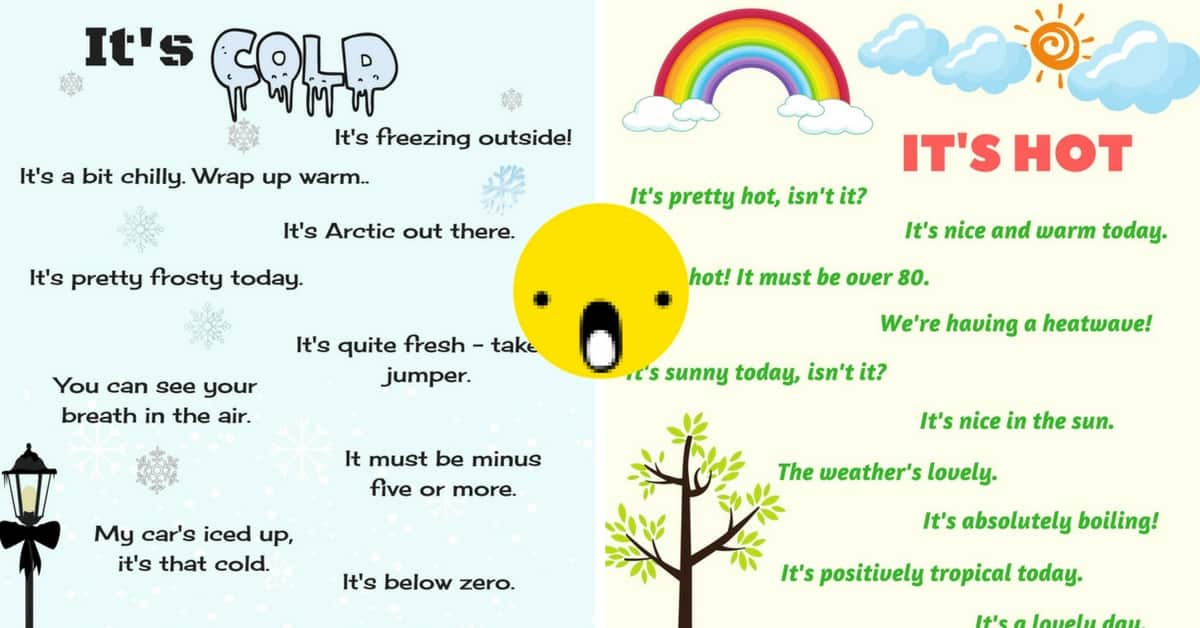 Weather Vocabulary: How to Talk About the Weather in English 16