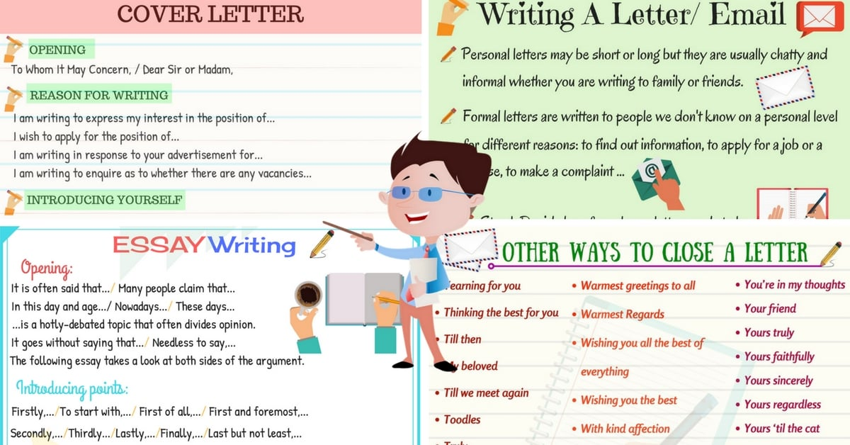 How to Write a Letter or an Essay in English 12