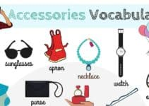 Accessories Vocabulary in English 6