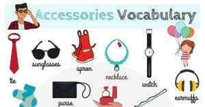 Accessories Vocabulary in English