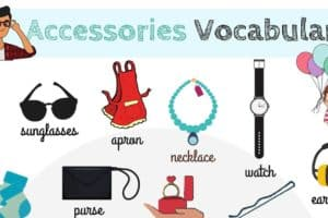 Accessories Vocabulary in English 1