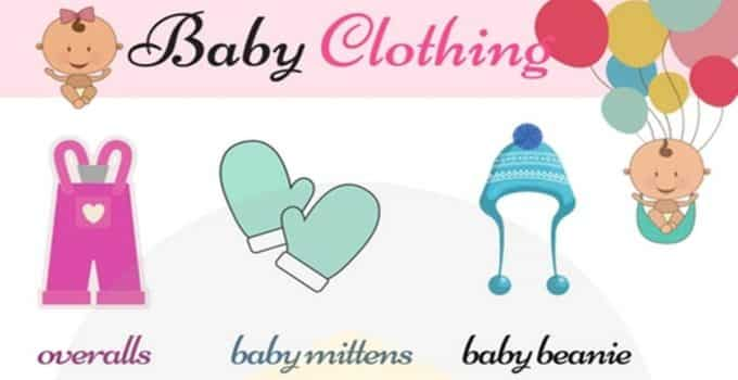 English Vocabulary for Children's Clothing 1