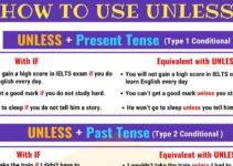 How to Use UNLESS | English Grammar 3