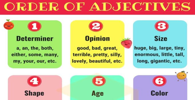 Order of Adjectives | Rules and Examples 1