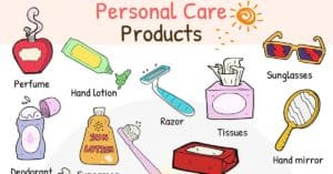 Personal Care Products Vocabulary in English