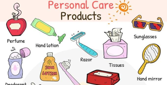 Personal Care Products Vocabulary in English 1
